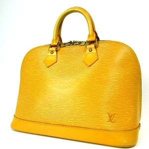 LOUIS VUITTON Yellow Epi Leather Alma PM Handbag
